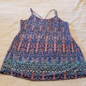 Peppermint geo print spaghetti strap summer dress